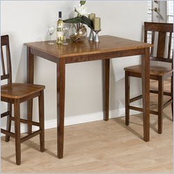 Jofran 5 Piece Dining Table Set in Kura Espresso & Canyon Gold