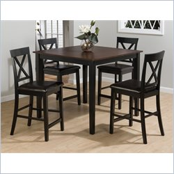 Jofran 262 Series 5 Piece Counter Height Dining Table Set