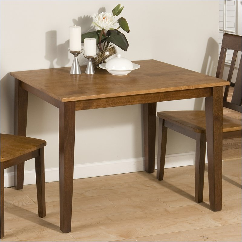 875 Series Casual Dining Table in Kura Espresso and Canyon Gold