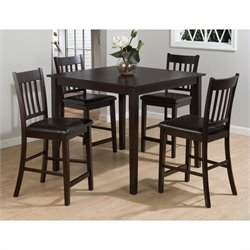 Jofran 892 Series 5 Piece Counter Height Dining Table Set in Merlot
