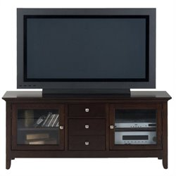 Jofran 040 Series TV Stand in Fresno Merlot Finish