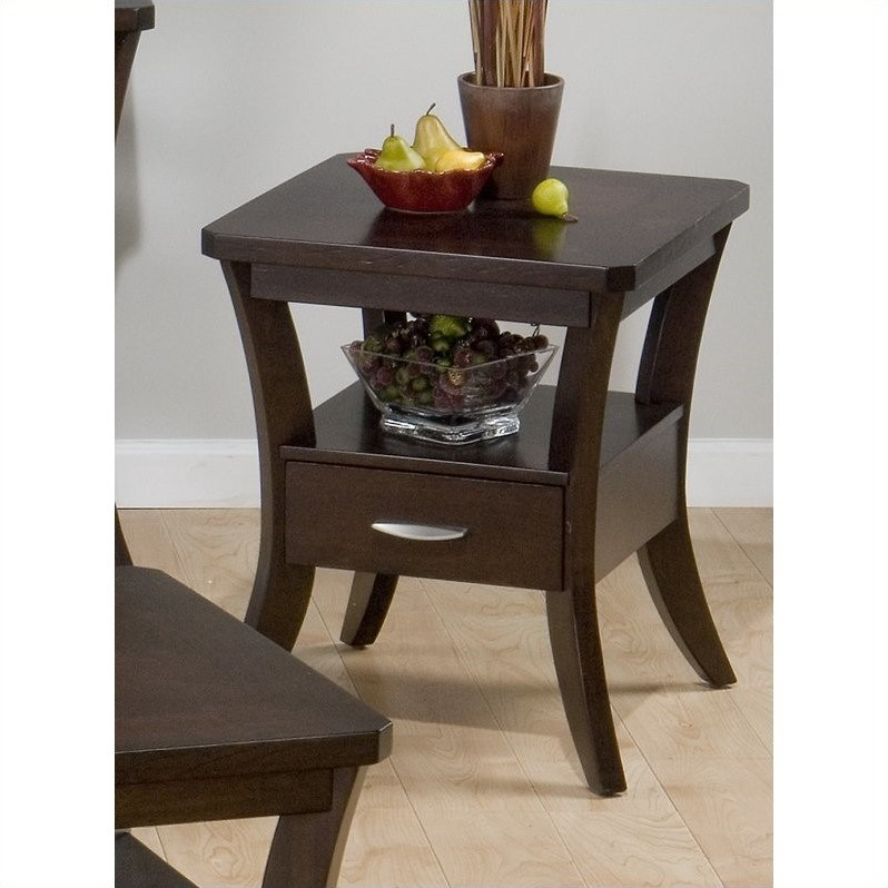 328 Series End Table in Joes Espresso Finish