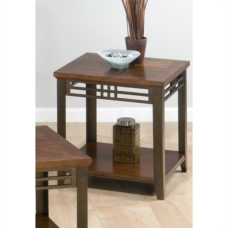 Jofran 536 Series End Table in Barrington Cherry Finish