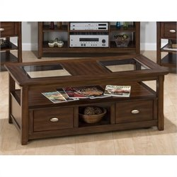 Jofran 709 Series Cocktail Table in Bellingham Brown Finish