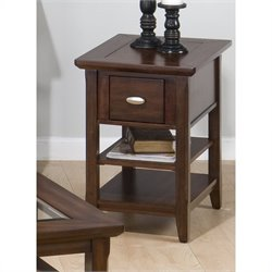 Jofran 709 Series Chairside Table in Bellingham Brown Finish