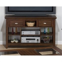 Jofran 709 Series Sofa Table / TV Stand in Bellingham Brown Finish