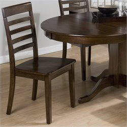 Jofran Slat Ladderack Wood Dining Side Chair in Taylor Brown Cherry (Set of 2)