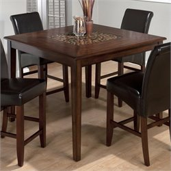 Jofran 697 Series Counter Height Dining Table in Baroque Brown Finish