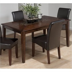 Jofran 697 Series Rectangular Dining Table in Baroque Brown Finish
