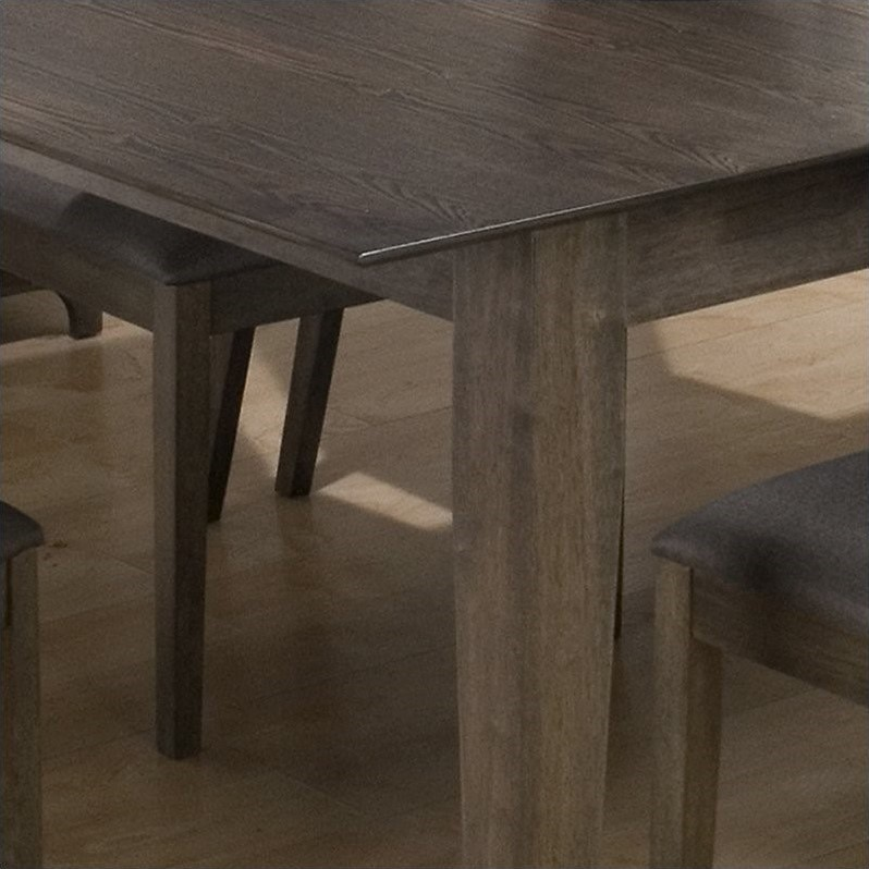 Jofran 728 Series Rectangular Dining Table in Antique Gray Ash Finish