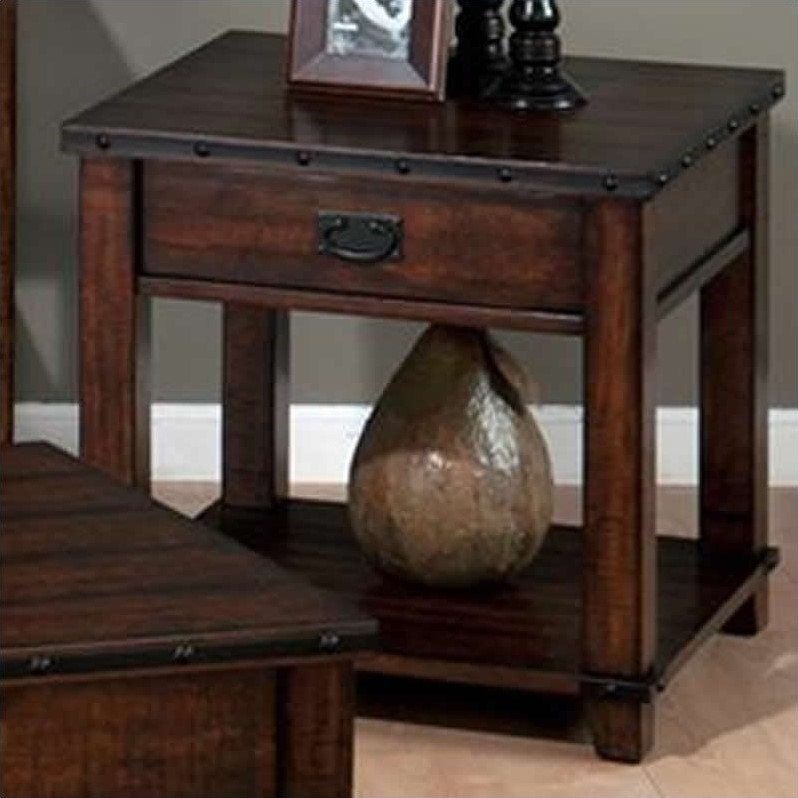 Jofran End Table in Cassidy Brown Finish