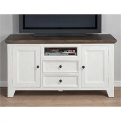 Jofran TV Console in Nantucket Aged White Finish