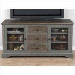 Jofran TV Console in Brimfield Antique Grey Finish