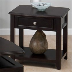 Jofran End Table in Joes Espresso Finish