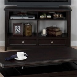 Jofran Sofa Table TV Stand in Joes Espresso Finish