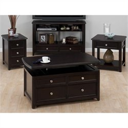Jofran 4 Piece Occasional Table Set in Joes Espresso