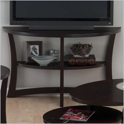 Jofran Demilune Sofa Table TV Stand in Skylah Espresso