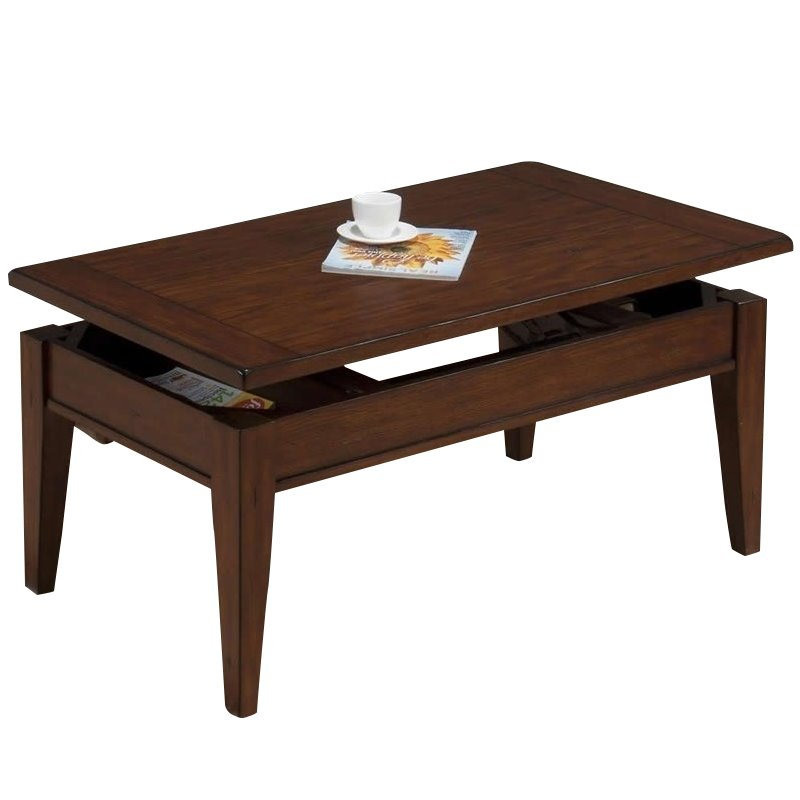 Jofran Lift Top Coffee Table In Dunbar Oak Finish 411 1