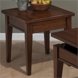 Jofran End Table in Dunbar Oak Finish