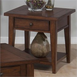 Jofran Square End Table in Clay County Oak