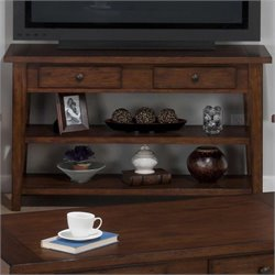 Jofran Sofa Table TV Stand in Clay County Oak