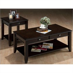 Jofran 2 Piece Occasional Table Set in Bartley Oak