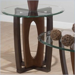 Jofran Oval End Table in Ellipse Cherry Finish