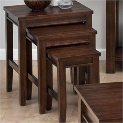Jofran 3 Piece Nesting Tables in Urban Lodge Brown