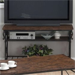 Jofran Sofa Table TV Stand in Rutlege Pine Finish
