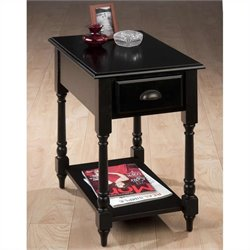 Jofran Chairside Table in Antique Black Finish