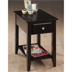 Jofran Chairside Table in Espresso Finish