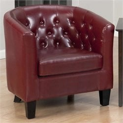 Jofran Gianni Club Chair in Red