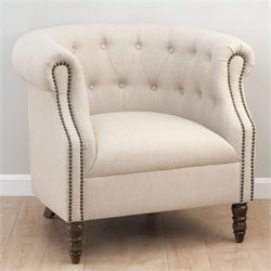 Jofran Grace Club Chair in Natural