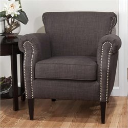 Jofran Emma Club Chair in Charcoal