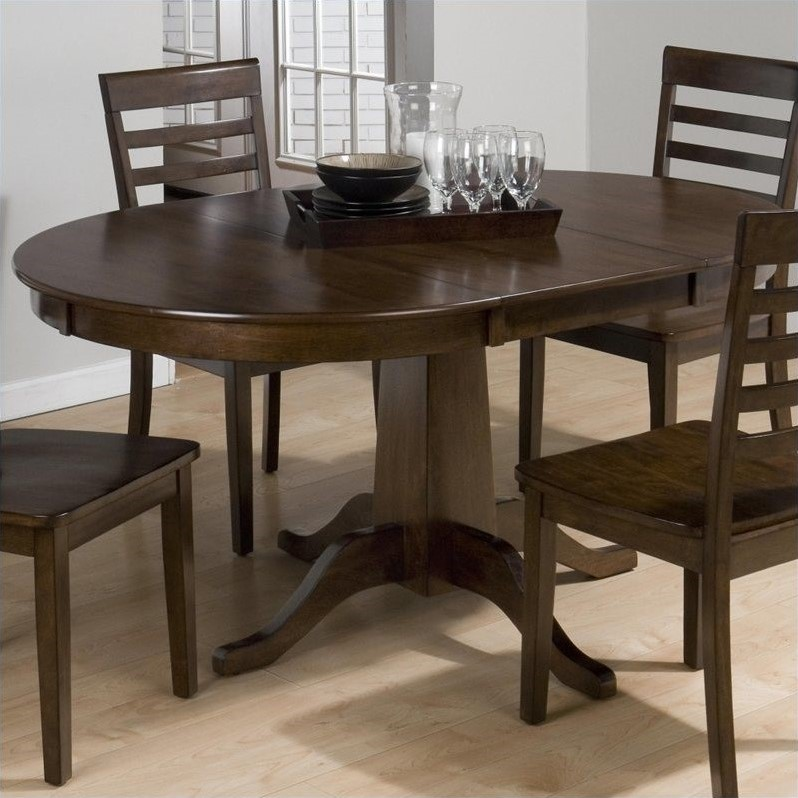 Jofran Round to Oval Dining Table in Taylor Cherry 342  : 439409 L from www.cymax.com size 798 x 798 jpeg 115kB