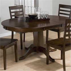 Jofran Round to Oval Dining Table in Taylor Cherry