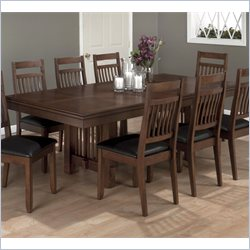 Jofran Rectangle Butterfly Leaf Dining Table in Lewis Oak