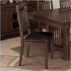 Jofran Slat Back Side Chair in Lewis Oak (set of 2)