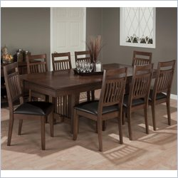 Jofran 9 Piece Dining Set in Lewis Oak