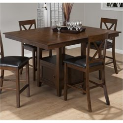 Jofran Counter Height Rectangle Dining Table in Olsen Oak