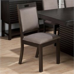 Jofran Sensei Oak Hamilton Upholstered Side Chair (set of 2)