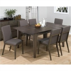 Jofran 728 Series 7 Piece Dining Set in Antique Gray Ash