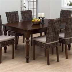 Jofran Rectangle Fixed Top Dining Table in Urban Lodge Brown