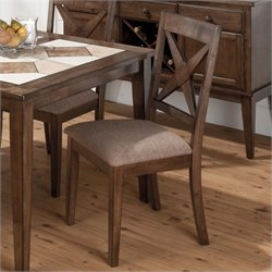 Jofran Nova Upholstered Side Chair in Tucson Brown (set of 2)