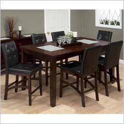 Jofran 7 Piece Counter Height Dining Set in Chadwick Espresso