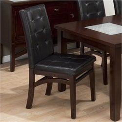 Jofran Tufted Parson Dining Side Chair in Chadwick Espresso (set of 2)