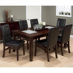 Jofran 7 Piece Dining Set in Chadwick Espresso