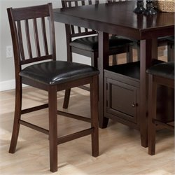 Jofran Slat Back Counter Height Stool in Tessa Chianti (set of 2)
