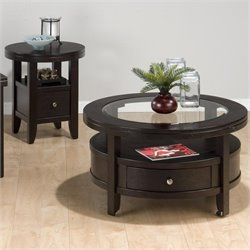 Jofran Marlon 2 Piece Coffee Table Set in Wenge