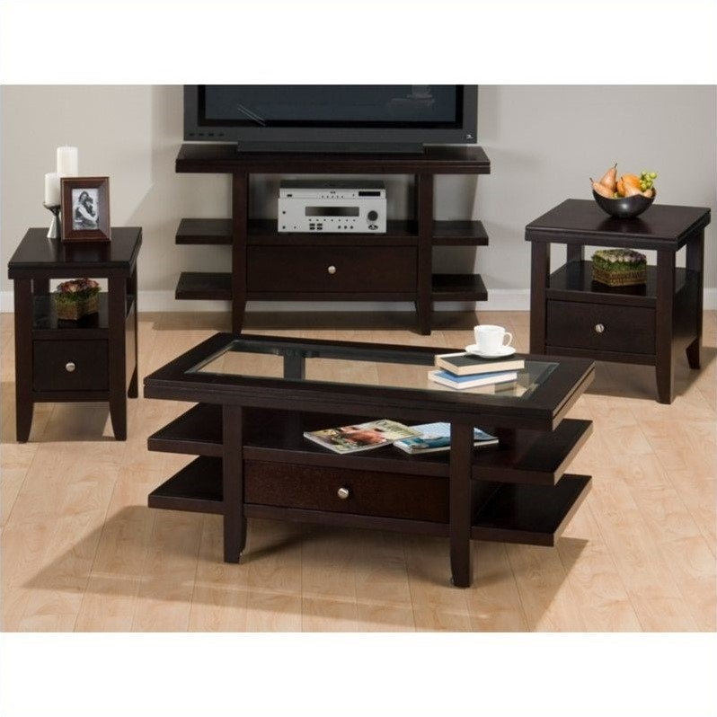 Jofran Marlon 4 Piece Living Room Table Set in Wenge